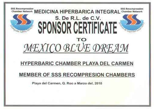 Hyperbaric Chamber Certificate