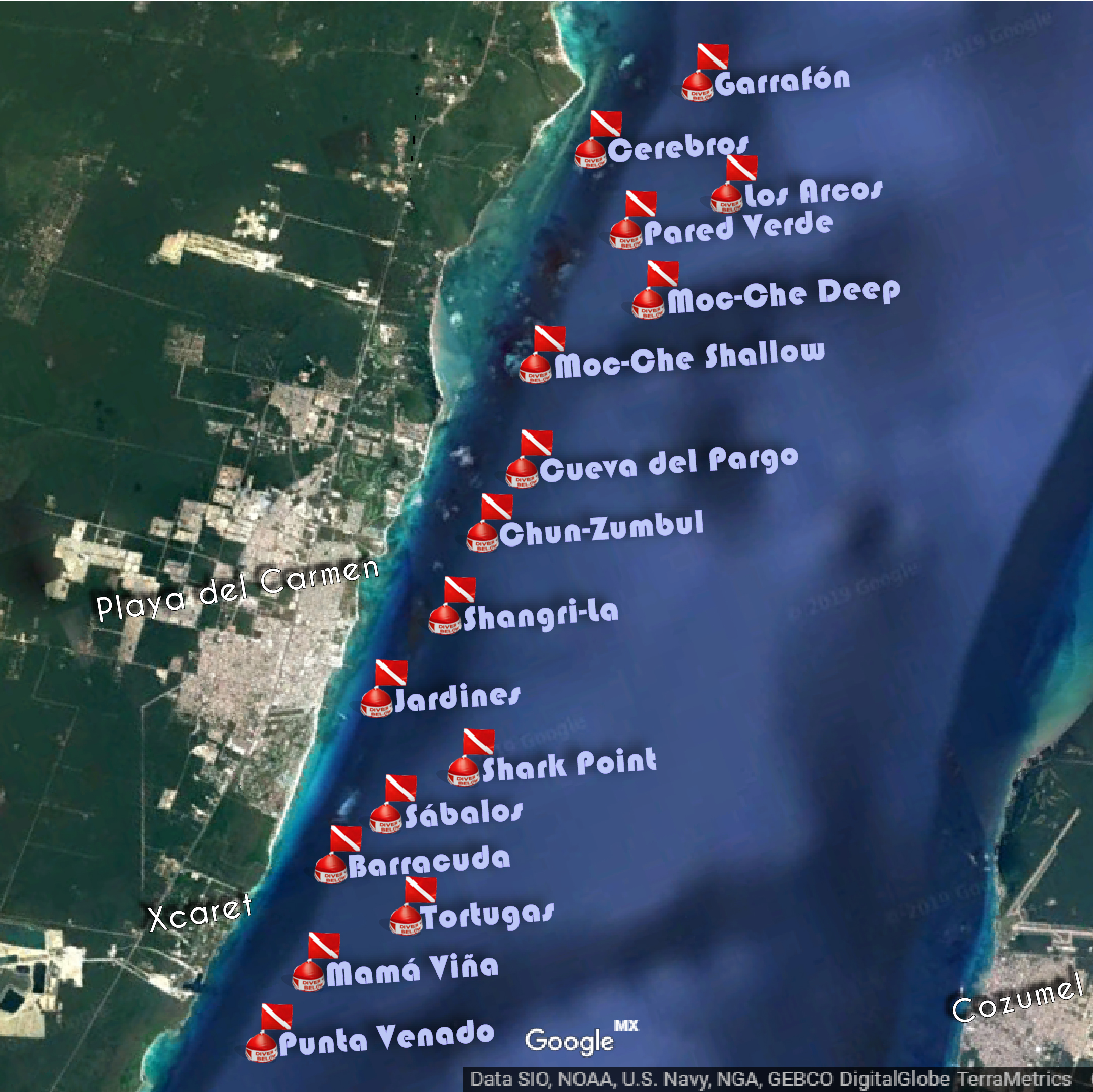 Playa Del Carmen Dive Sites